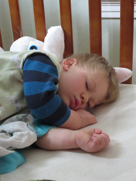 Cormac Sleeping Peacefully Before the Teething Fairy Came