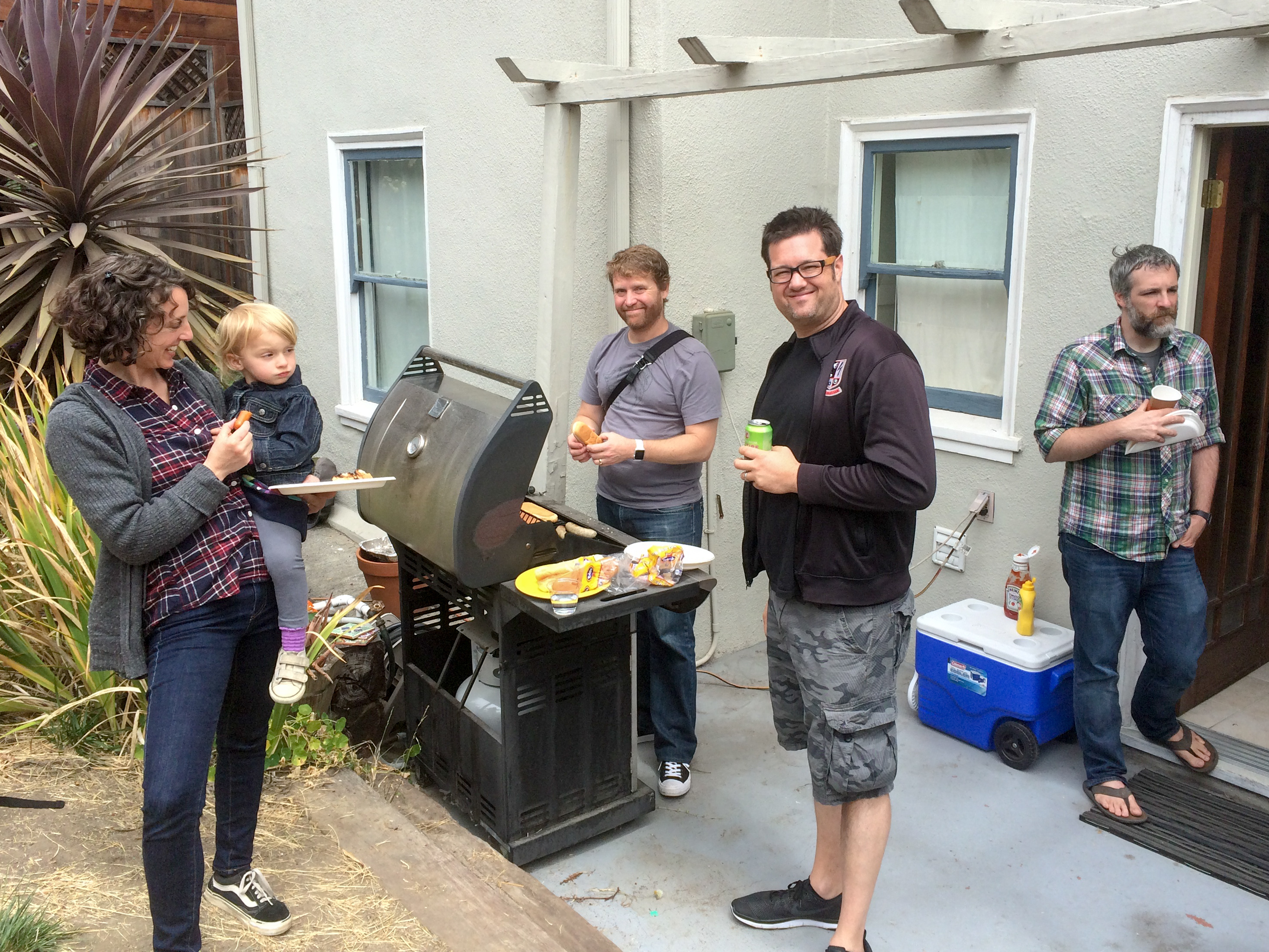 Master BBQer & Sundry Adults (plus cute A)